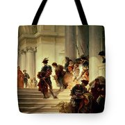 Cesare Borgia Leaving The Vatican Tote Bag by Giuseppe Lorenzo Gatteri