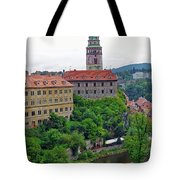 Cesky Krumlov Castle Complex In The Czech Republic Tote Bag