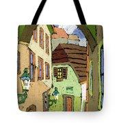 Cesky Krumlov Masna Street Tote Bag