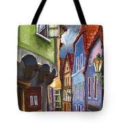 Cesky Krumlov Old Street 1 Tote Bag