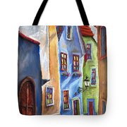 Cesky Krumlov Old Street Tote Bag