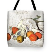 Cezanne Oranges Digital Art Tote Bag