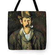 Cezanne: Pipe Smoker, C1892 Tote Bag