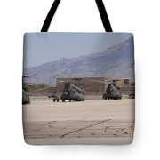 Ch-47 Chinook Helicopters On The Flight Tote Bag