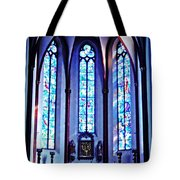 Chagall Windows In St Stephen's Church 1   Tote Bag