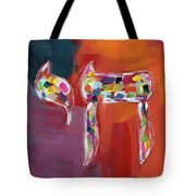Chai Of Many Colors- Art By Linda Woods Tote Bag