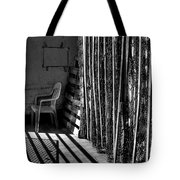 Chain Barrier Tote Bag