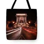 Chain Bridge At Midnight Tote Bag