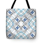 Chain Of Clouds Pattern Tote Bag