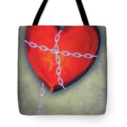 Chained Heart Tote Bag by Jeff Kolker