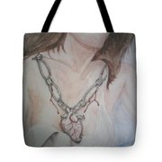 Chained Heart Tote Bag