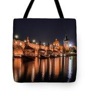 Chains Bridge In Prague Tote Bag