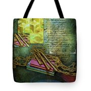 Chains, Poetry And Spirits Tote Bag