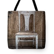 Chair In Abandoned Home In Bodie Ghost Town Tote Bag by Bryan Mullennix