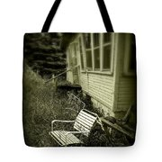 Chair In Grass Tote Bag