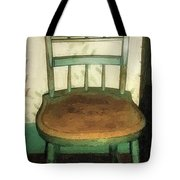 Chair In Isolated Corner Tote Bag