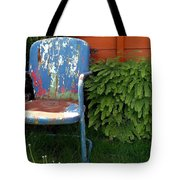 Chair Of Many Colors Tote Bag