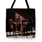 Chairs And Shadows Tote Bag