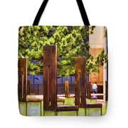 Chairs At The Gate Tote Bag