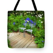 Chairs In The Garden Tote Bag
