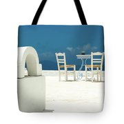 Chairs Of Santorini Tote Bag