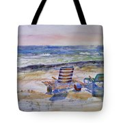 Chairs On The Beach Tote Bag