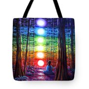Chakra Meditation In The Redwoods Tote Bag