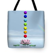 Chakras And Rainbow - 3d Render Tote Bag