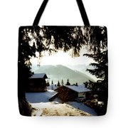 Chalet Through The Trees Tote Bag