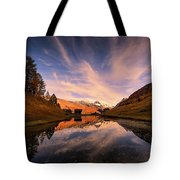 Chalet With An Autumn View Tote Bag