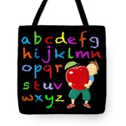 Chalk Board Alphabet B Tote Bag