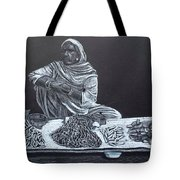 Chalk Seller Tote Bag by Ekta Gupta