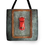 Chalkboard Toy Car Tote Bag