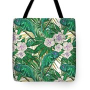 Chameleons And Camellias  Tote Bag