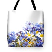 Chamomile And Cornflower Mix Tote Bag