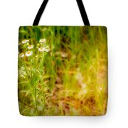 Chamomile In The Sunny Meadow Tote Bag