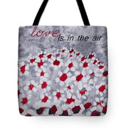 Champs De Marguerites - Love Is In The Air - Red -a23a3 Tote Bag