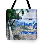 Champagne Snorkel Dominica Shirt Tote Bag