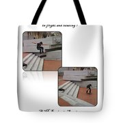 Champion In Flight And Landing Tote Bag
