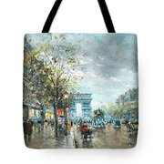 Champs Elysees Avenue, Paris Tote Bag