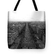 Champs Elysees In Paris Tote Bag