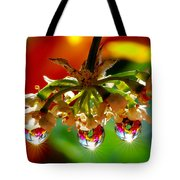 Chandelier From The Rain Drops Tote Bag