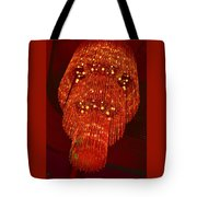 Chandelier In Red  Tote Bag