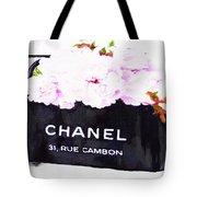 Chanel Bag With Peony  Tote Bag
