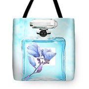 Chanel Blue Flower 3 Tote Bag