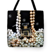 Chanel Coco With Pearls Tote Bag