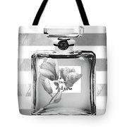 Chanel Flower Grey Tote Bag