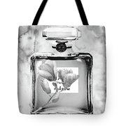 Chanel Grey Flower Tote Bag