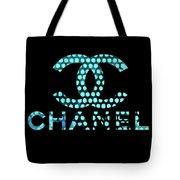 Chanel Light Blue Points Tote Bag