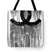 Chanel Logo Black White 1 Tote Bag